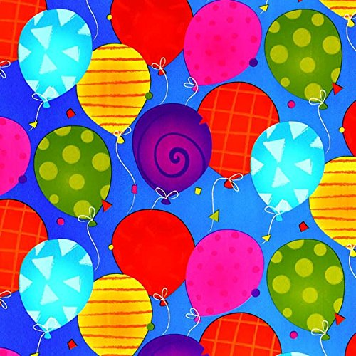 Amscan Festive Bright Balloons Jumbo Embossed Gift Wrap, Multicolor, 16' x 30''