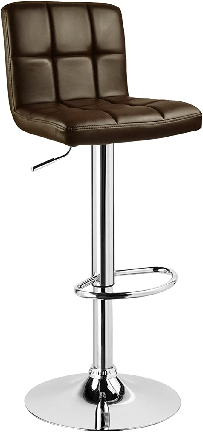 Woltu Bar Stool Faux Leather Kitchen Stool Barstool Brown Seat Adjust 60 82cm Amazon Co Uk Kitchen Home
