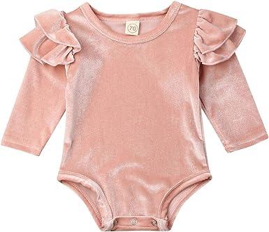 Toddler Infant Baby Boys/&Girls Long Sleeve Ruffle Romper Bodysuit Clothes