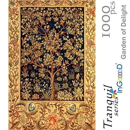 (Ingooood- Jigsaw Puzzles 1000 Pieces for Adult- Tranquil Series- Garden of Delight_IG-0363 Entertainment Wooden Puzzles Toys )
