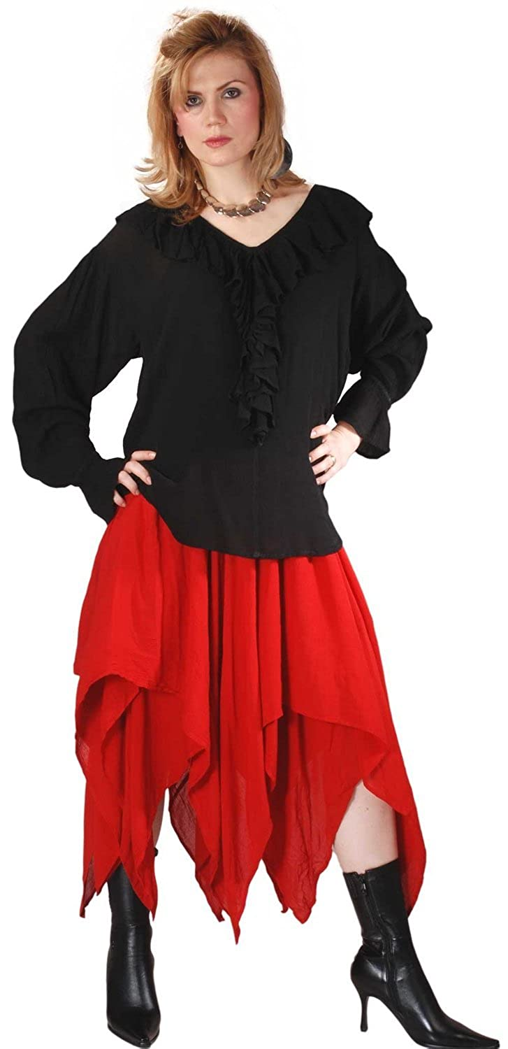 ThePirateDressing Pirate Medieval Renaissance Ashaki Skirt Costume C1020 [Red]