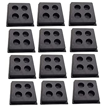 """8 pack of anti vibration pads speaker vibration isolation 2/""""x2/""""x3//4/"""" all rubber"""