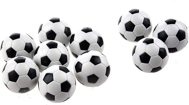 SODIAL(R) Futbolin 10pcs 32mm Futbolin de Mesa plastico Bola del Futbol de Tableta: Amazon.es: Juguetes y juegos
