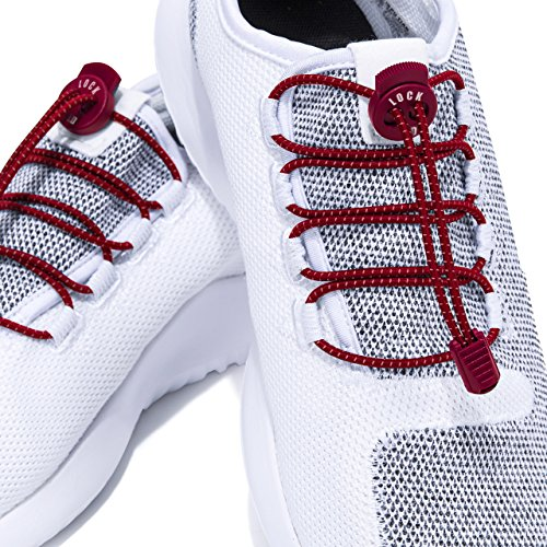 Linda Lock - ADIERLIFE Lock Shoelaces No-tie System, Flexible & Comfortable Stretch Laces Completely Get Rid of the Tie Process