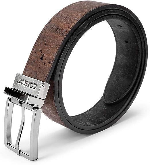 """M Size 34-36 Men/'s Dark Brown Smooth Genuine Leather Dress Belt Width 1 1//8/"""""""