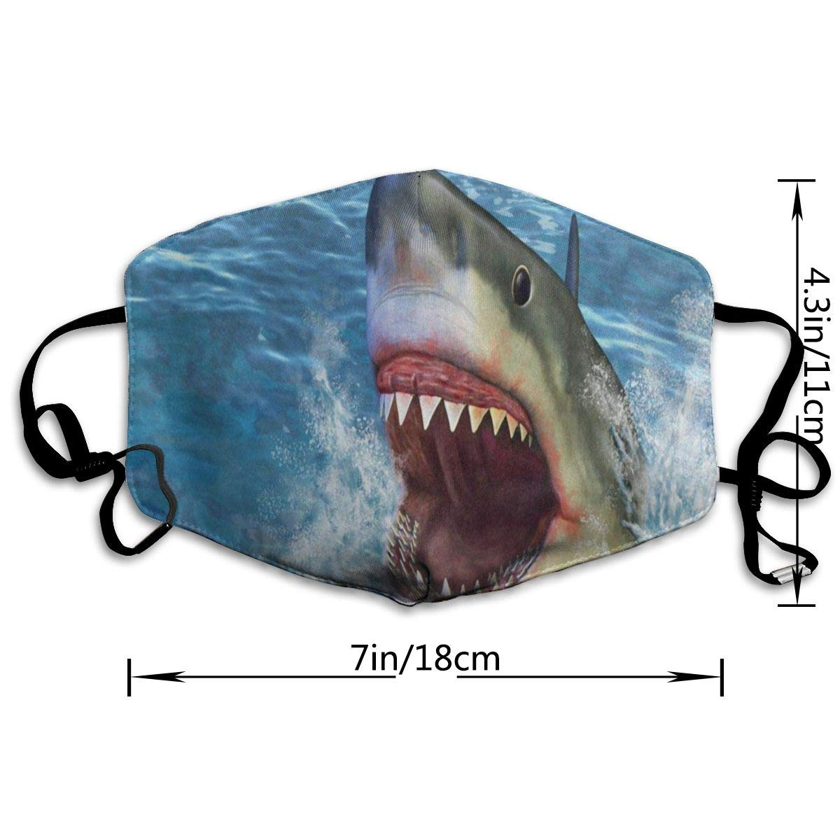 Amazon com: Custom Mouth Mask Anti-Dust Great White Shark