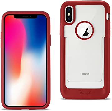 Reiko iPhone X Belt Clip Polymer Case In Clear Red