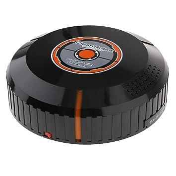 Baoblaze Limpiador de Pisos Robot Aspirador Automático para Obtener Tierra Pelo de Mascotas Polvo de Pisos - Negro: Amazon.es: Hogar