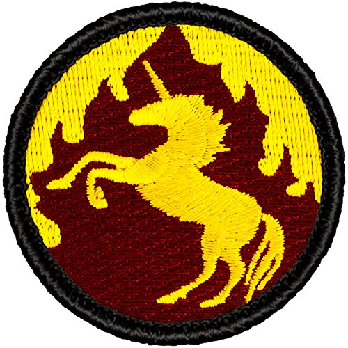 "UPC 767872634923, Flaming Unicorn Patrol Patch - 2"" Round!"