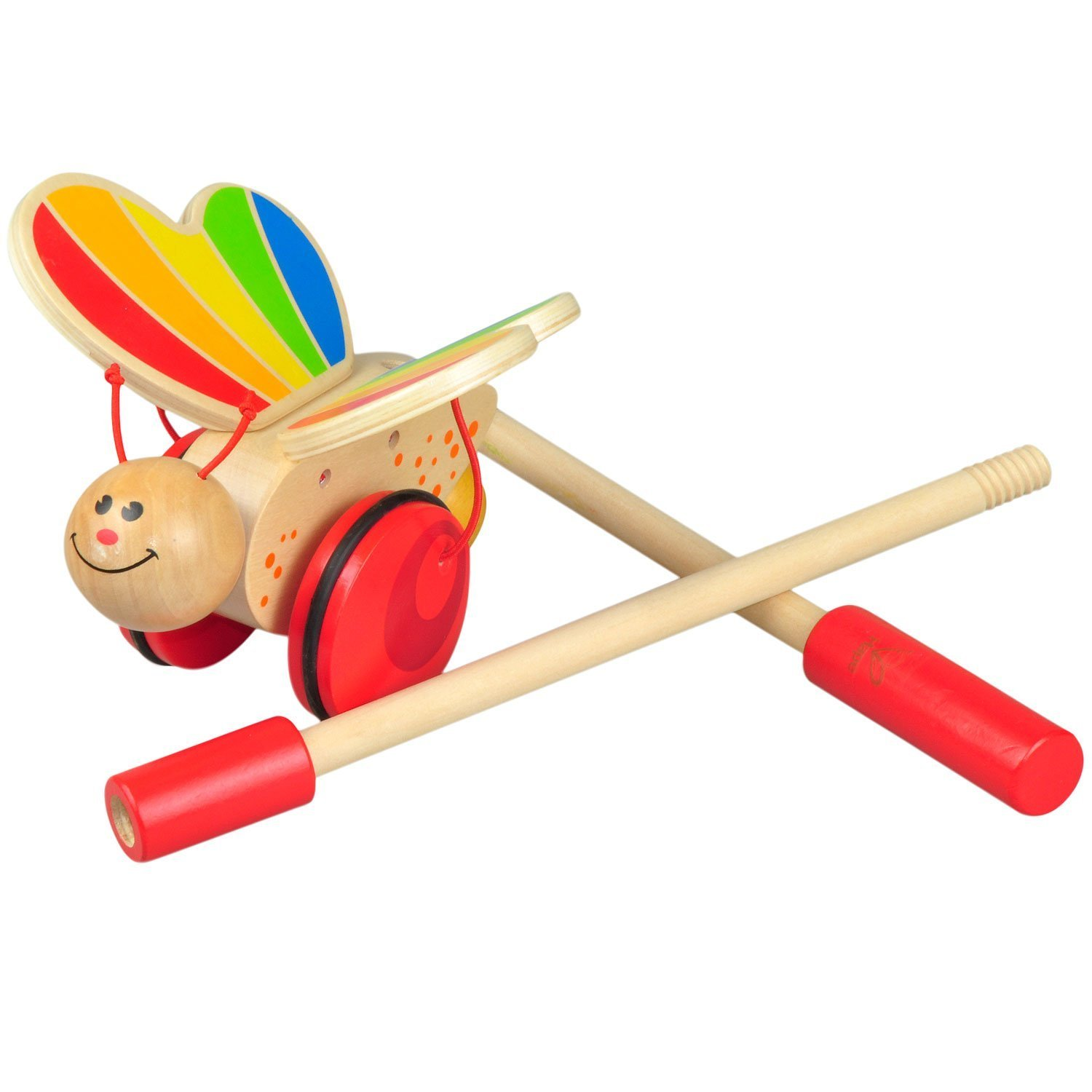 Amazon Hape Butterfly Wooden Push and Pull Walking Toy Toys