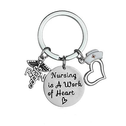Enfermera regalos para las mujeres enfermera encanto llavero ...