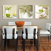 AKLIG Cuadros Lienzo de Pintura Mesa de Comedor para la Cocina del Dormitorio de la Sala de Estar, 50cm X 70cm X 3pcs (sin Marco)