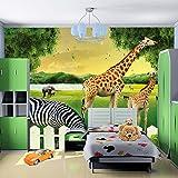 LHDLily 3D Wallpaper Mural Wall Sticker Thickening Large Children 'S Room Environmental Kindergarten Playground Background 400cmX300cm