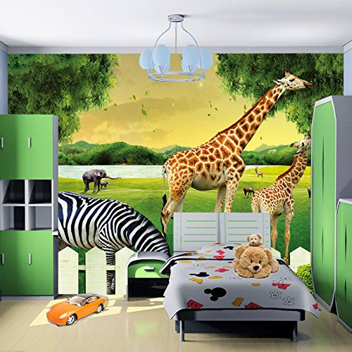 LHDLily 3D Wallpaper Mural Wall Sticker Thickening Large Children 'S Room Environmental Kindergarten Playground Background 400cmX300cm by LHDLily