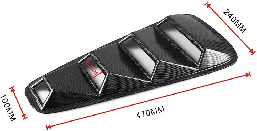 1 Pair RUNMIND for 05-14 Ford Mustang Rear 1//4 Quarter Side Window Louvers Scoop Cover Vent 2pcs