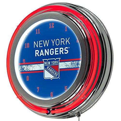(Trademark Gameroom NHL New York Rangers Chrome Double Rung Neon)
