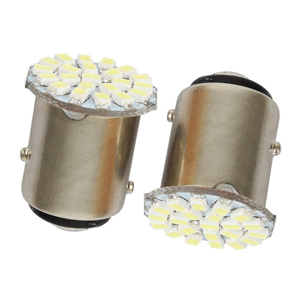 TOOGOO(R) 12V 1156 22 SMD LED Bulbs For Car Brake Light Stop Light Tail Light Reverse Lamp White 2-pack