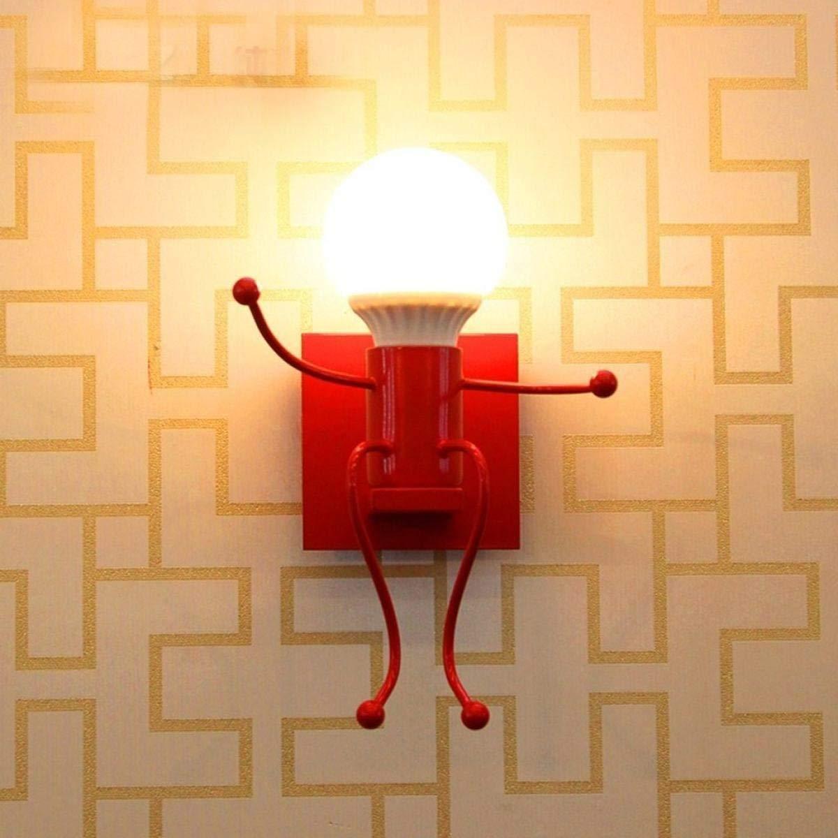 Eeayyygch Wandleuchte Wandleuchte Modernes minimalistisches Wohnzimmer Schlafzimmer Nachttischlampe Kreativ [Energieklasse A +++]