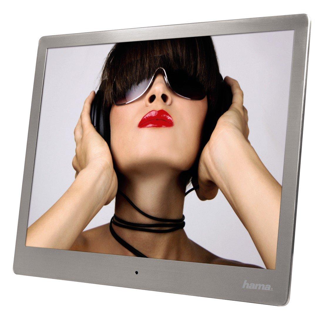 Hama Digitaler Bilderrahmen Slim Steel 9,7 Zoll silber: Amazon.de ...