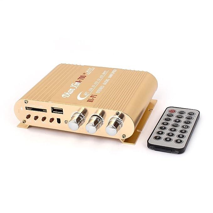 Coche DC 12V-18V de 2 canales Amplificador de sonido w ...