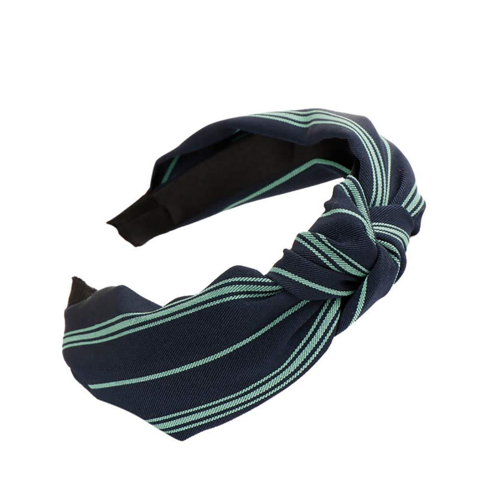Hairband Sweet Bow Knot Striped Tie-dye Cross-band Bandwidth Fashion Women Hair Head Hoop Simple Girls Hair Headband