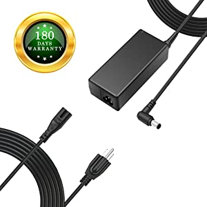 """For Samsung 19V LCD LED HDTV TV Plasma DLP Monitor Power Cord Charger Replacement Adapter Supply for A4819-FDY UN32J UN22H 22"""" 32"""" BN44-00837A A6619_FSM, HW-M360, HW-M360/ZA Soundbar, 19V AC DC 8.5Ft."""