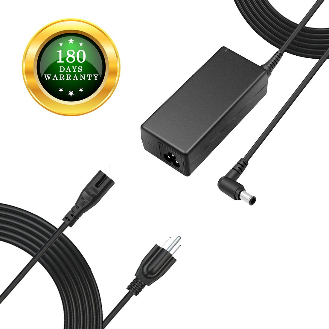 """For Insignia 12V LED HDTV HD TV DVD Power Cord Charger Replacement Adapter for 19"""" 20"""" 24"""" 28"""" 32"""" Power Supply, 12V, AC, DC, 8.5Ft."""