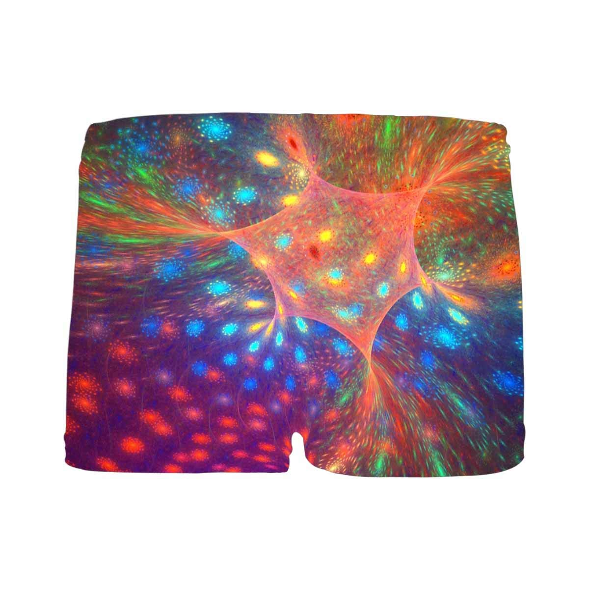 5T-2XL INTERESTPRINT Boys Fractal Background with Abstract Shapes Performance Boxer Briefs