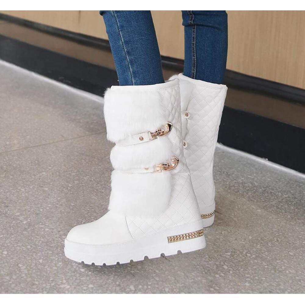 PINGXIANNV Winterstiefel Fashion Wedges Warme Schuhe Schuhe Warme Plattform Schneeschuhe d0eb8e