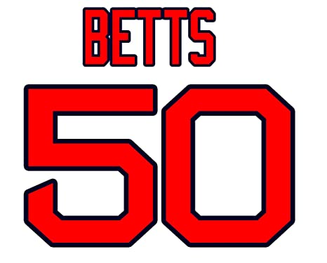 quality design f7fde 8bfa4 Mookie Betts Boston Red Sox Jersey Number Kit, Authentic ...