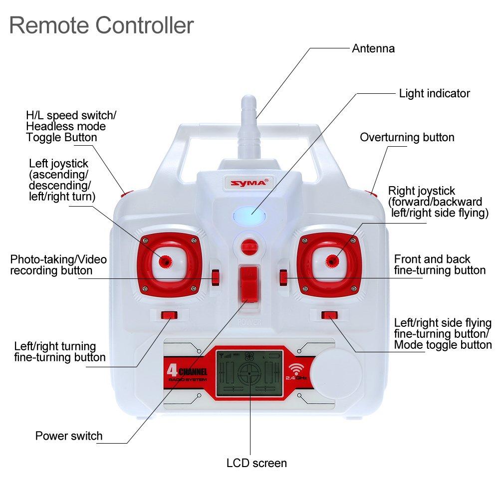 GoolRC Syma X8HG Drone con Camara HD 8.0MP RC Quadcoptr con Funciones de Modo Sin Cabeza Mantenimiento de Altura