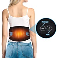 DOACT Waist Heating Pad, Massager Motor Thermal Heat Therapy Wrap Hot Compress for Lower Back Arthritis Cramps Arthritis Pain Relief Injury Recovery 1 Button Control 3 Heat