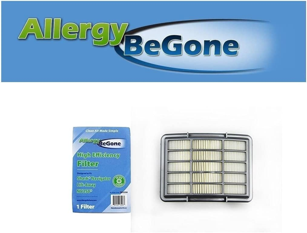 Shark XHF350 Navigator Lift Away NV350 NV351 NV352 Replacement HEPA Filter- by Allergy Be Gone