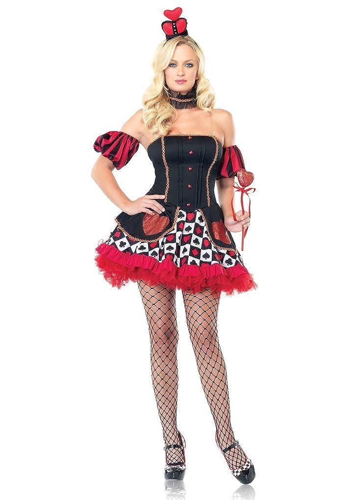 Sexy Adult Wonderland Queen of Hearts Costume (Medium/Large) - DeluxeAdultCostumes.com