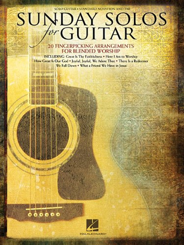 Sunday Solos For Guitar Standard Notation & Tab