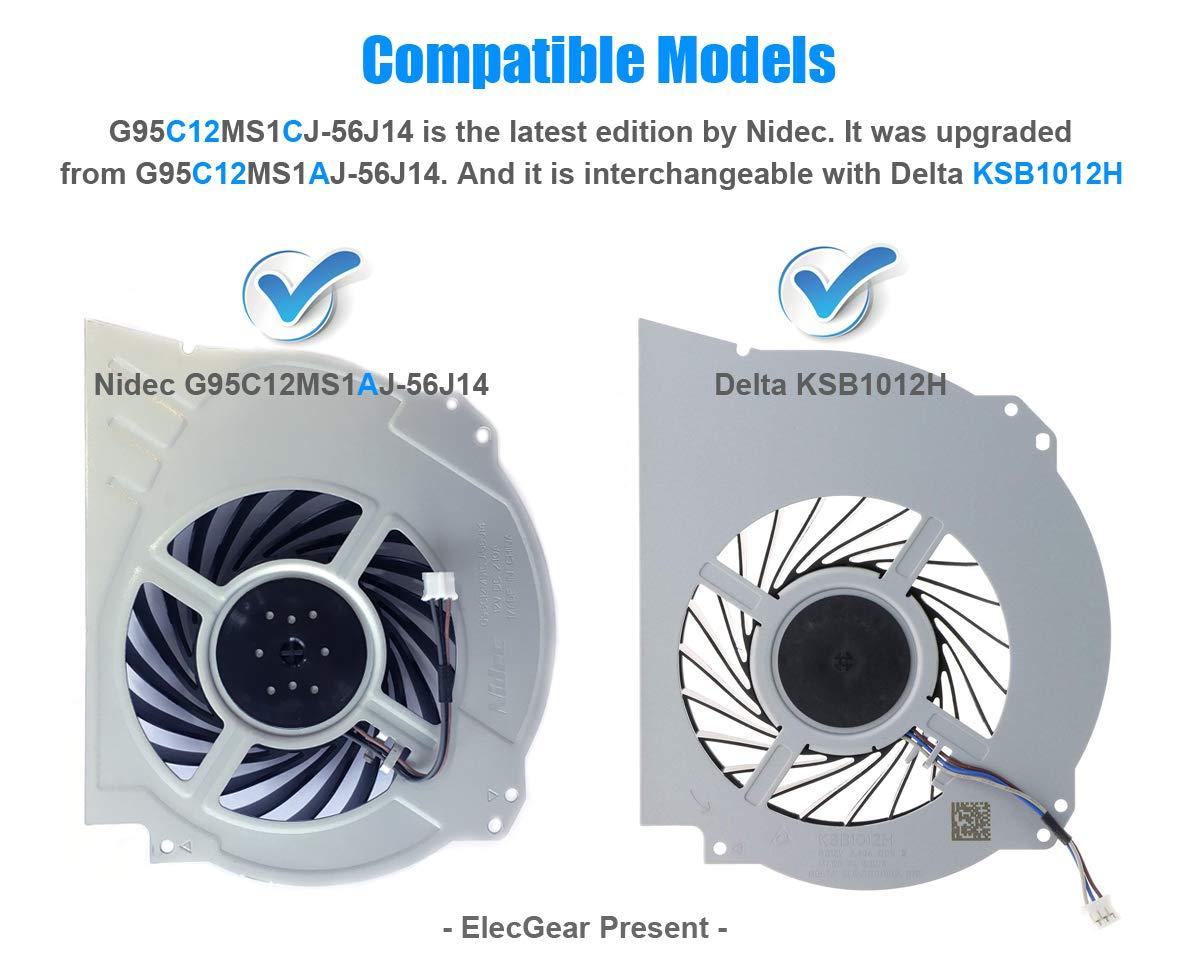 Arctic MX-2 Pasta T/érmica ElecGear Ventilador de Refrigeraci/ón para PS4 Pro CUH-7xxx Interno CPU Cooling Fan Torx TR8 PH0 Herramienta de reparaci/ón Playstation 4 Pro Reemplazo de Enfriamiento