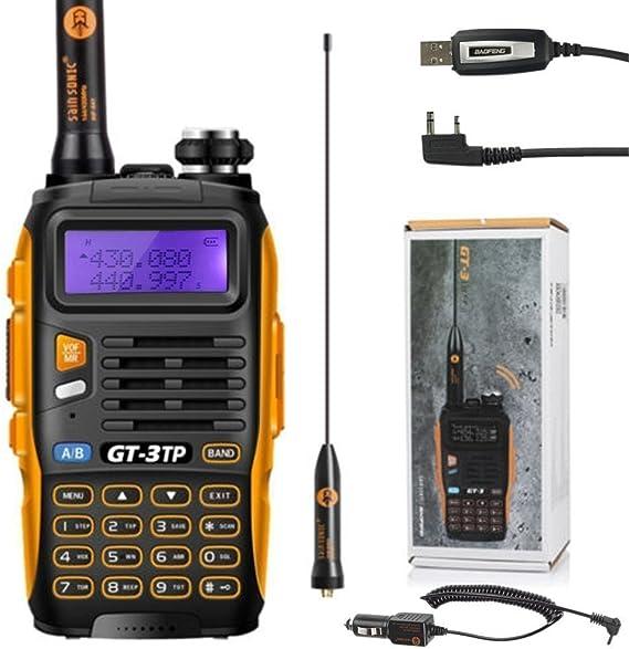 Baofeng Gt 3 Mark Ii Handfunkgerät Amateurfunk Radio Uhf Vhf 2m 70cm Dual Band Walkie Talkie Pmr Usb Kabel Auto