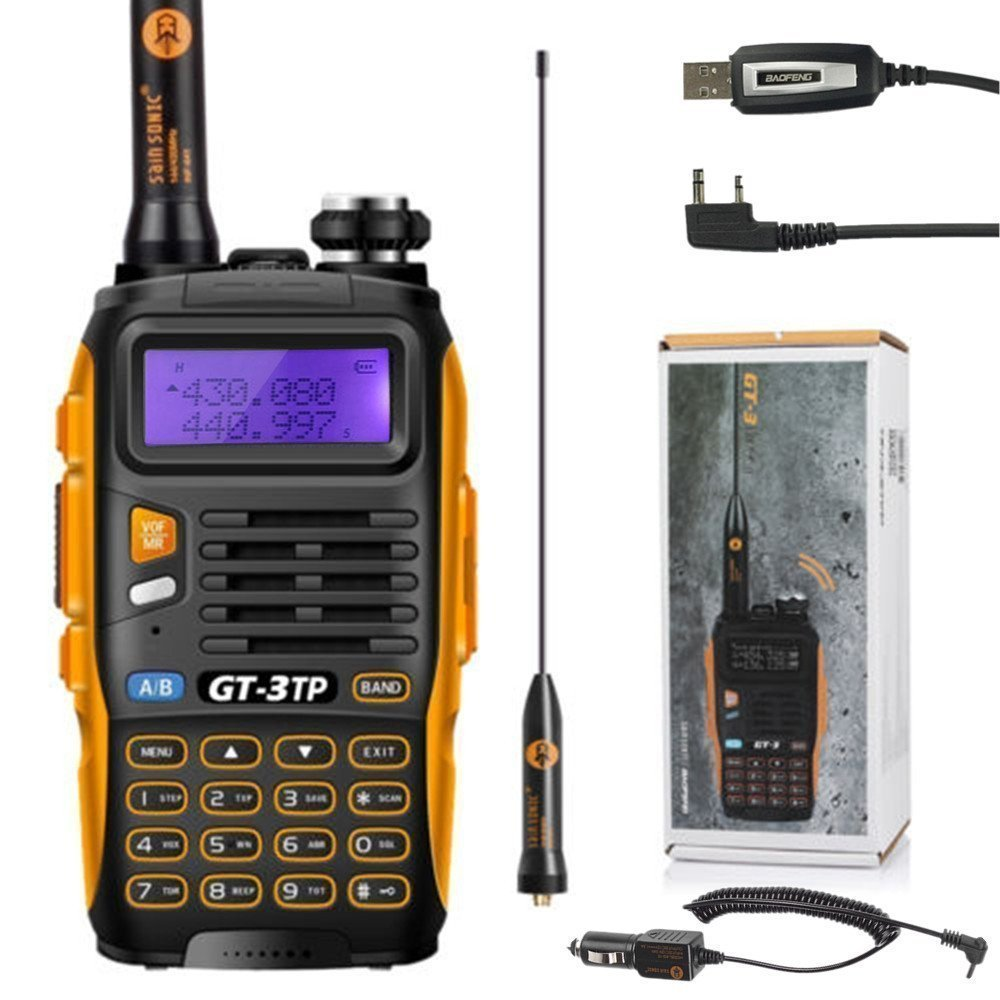 BaoFeng 3  GT-3  Mark II Talkie-walkie d' amateur - Radio UHF/VHF 2  m/70  cm - Talkie walkie bibande PMR + Câ ble USB GT-3 MARK II