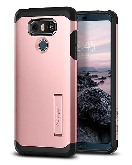 pretty nice 6a11c c43e6 Spigen Tough Armor Designed for LG G6 Case (2017) / Designed for LG G6 Plus  Case (2017) - Rose Gold