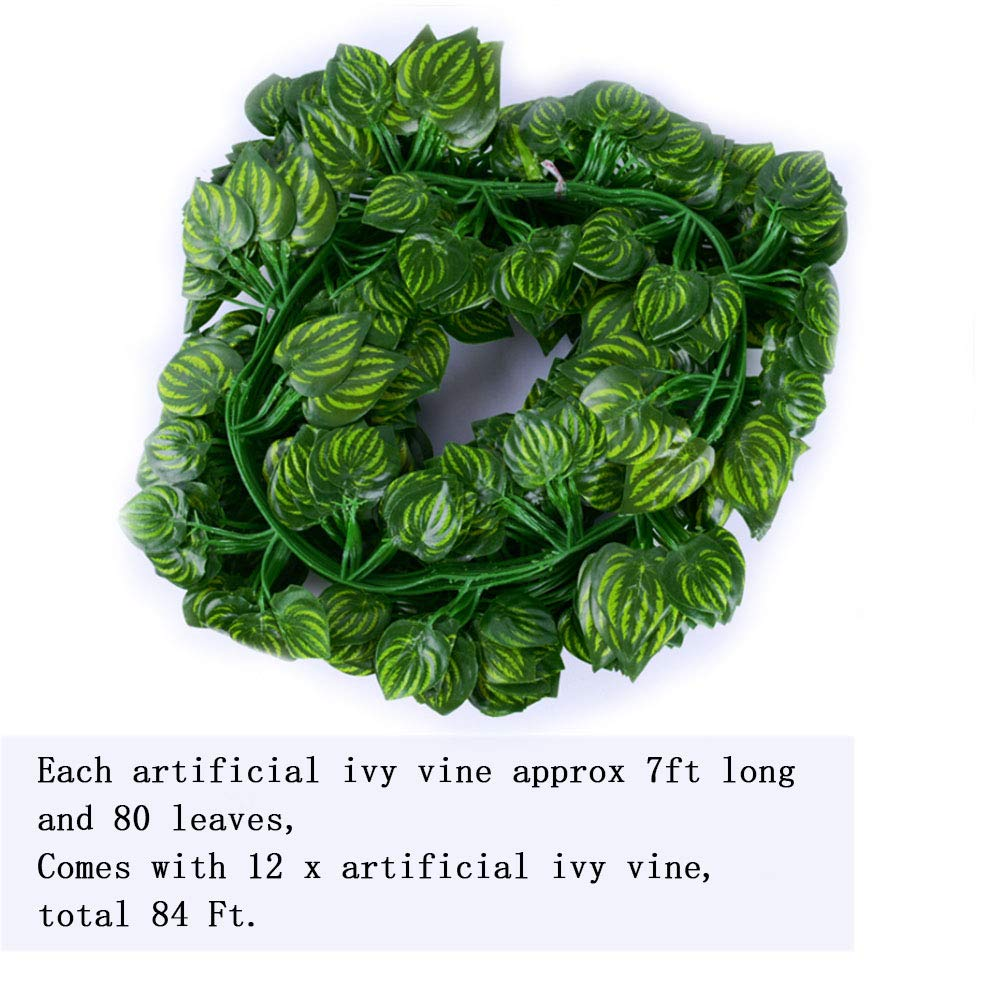 Scindapsus for Wedding Backdrop Arch Wall Jungle Party Table Office Decor Hanging Fake Plants Kalolary 78 Ft 12 Strands Artificial Ivy Garland Leaf Vines Plants Greenery