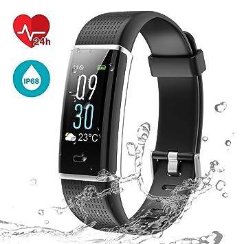SLGJYY Fitness Pulsera, Fitness Tracker Reloj con pulsómetro, Resistente al Agua IP67 Actividad Tracker Pulso Relojes Bluetooth Smart Reloj de Pulsera ...