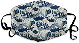 The Great Wave Off Kanagawa Mouth Mask Unisex Anti-dust Cotton Face Mask For Men And Women