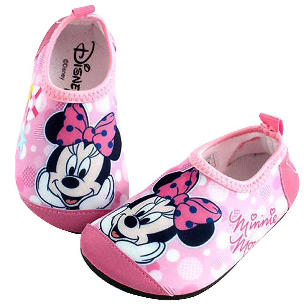47c8e201a165 Galleon - Joah Store Minnie Mouse Water Shoes For Girls Pink Aqua Socks  Anti-Slip Quick Dry Lightweight Runs Small (13 M US Little Kid