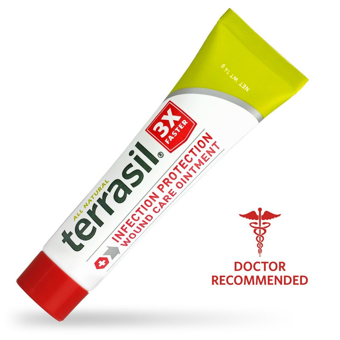Terrasil® Wound Care - 3X Faster Healing, Dr. Recommended, 100% Guaranteed, Patented, Homeopathic, Infection Protection Ointment for bed sores, pressure sores, diabetic wounds, venous ulcers, foot and leg ulcers, cuts, scrapes, and burns (14 gram tube)