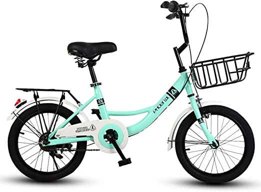 GLJJQMY Bicicletas for niños 16 Pulgadas Chicas Ciclismo 6-10 ...