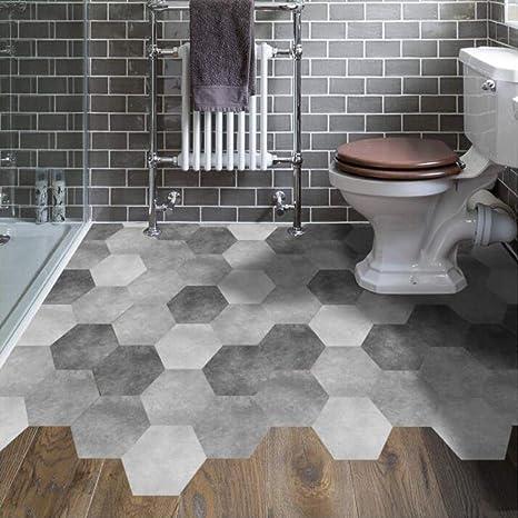 Tiles Wall Floor Stickers Mosaic Antislip Waterproof Bathroom Kitchen 10Pcs