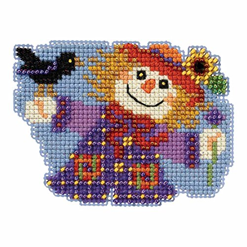 Sally Scarecrow Beaded Counted Cross Stitch Ornament Kit Mill Hill 2017 Autumn Harvest MH181723