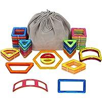 Meerveil Bloques de construcción magnéticos, Kits de Azulejos