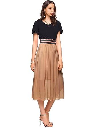 Elegante damen kleider midi
