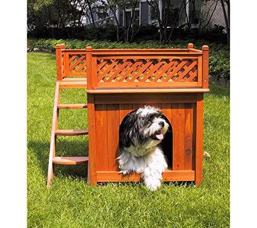 Custom Cedar Dog House - zoovilla Room with a View Dog House